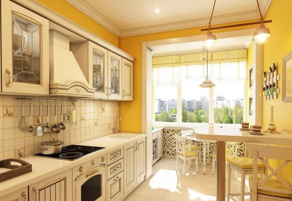 Кухни, совмещенные с балконом или лоджией