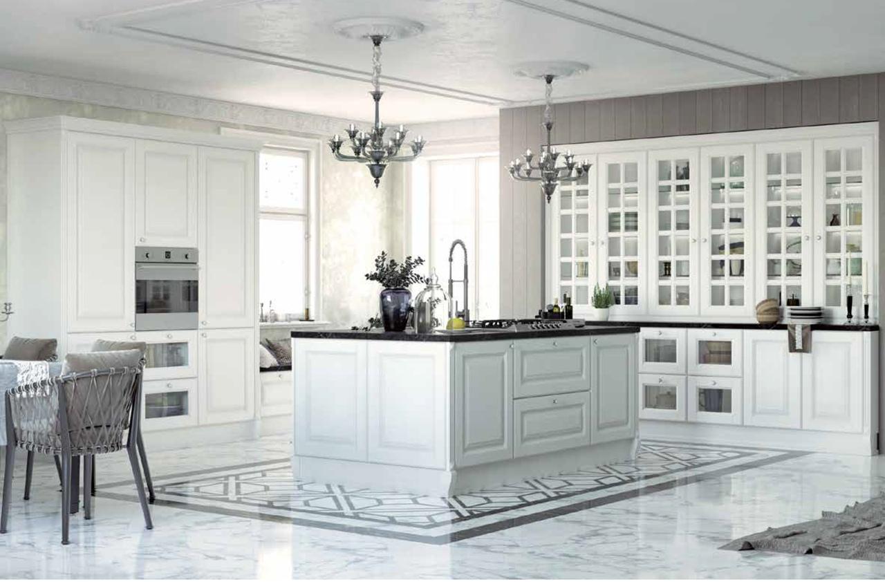Дизайн белой кухни: варианты с фото