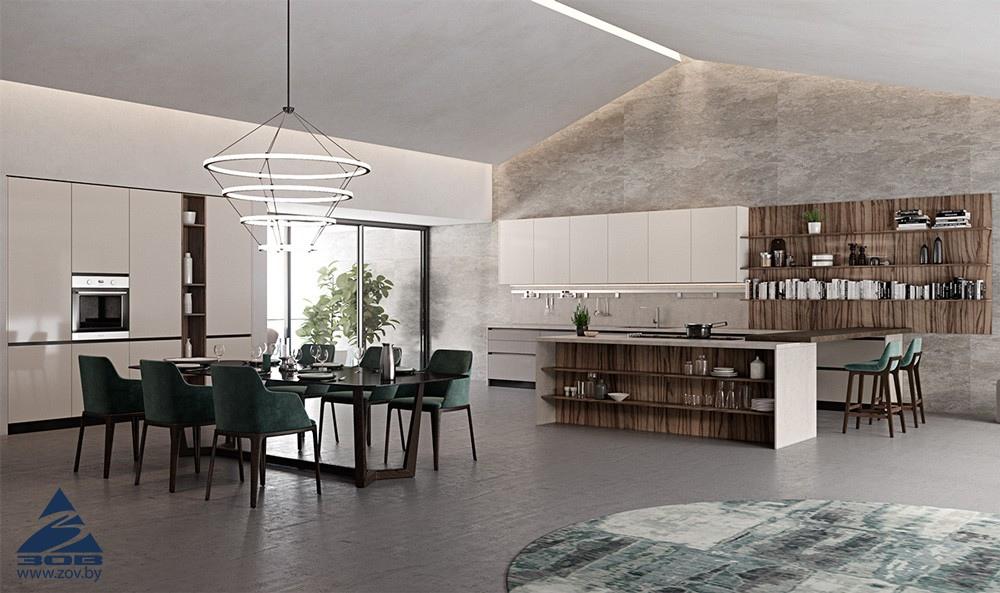 Дизайн кухни-гостиной с фото
