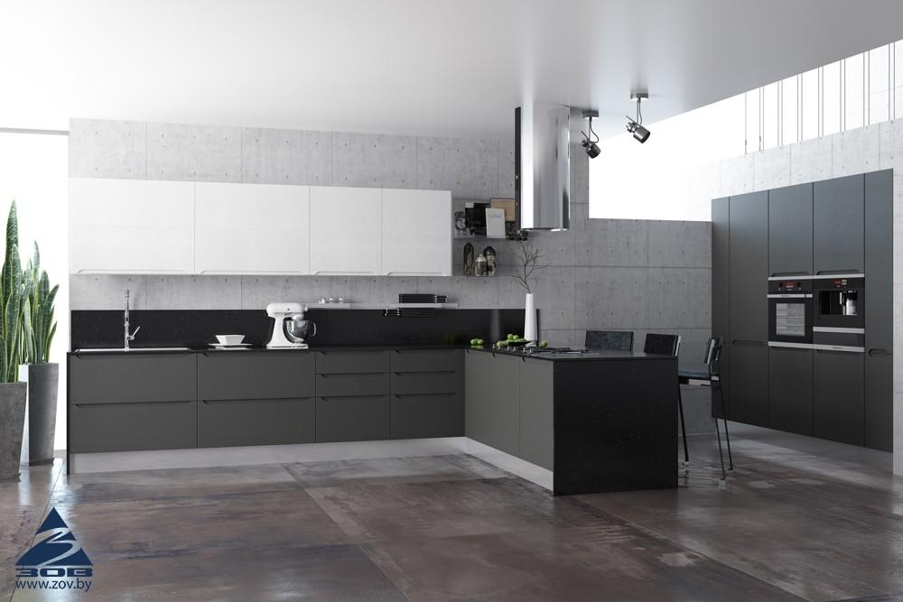 Черная кухня: дизайн с фото
